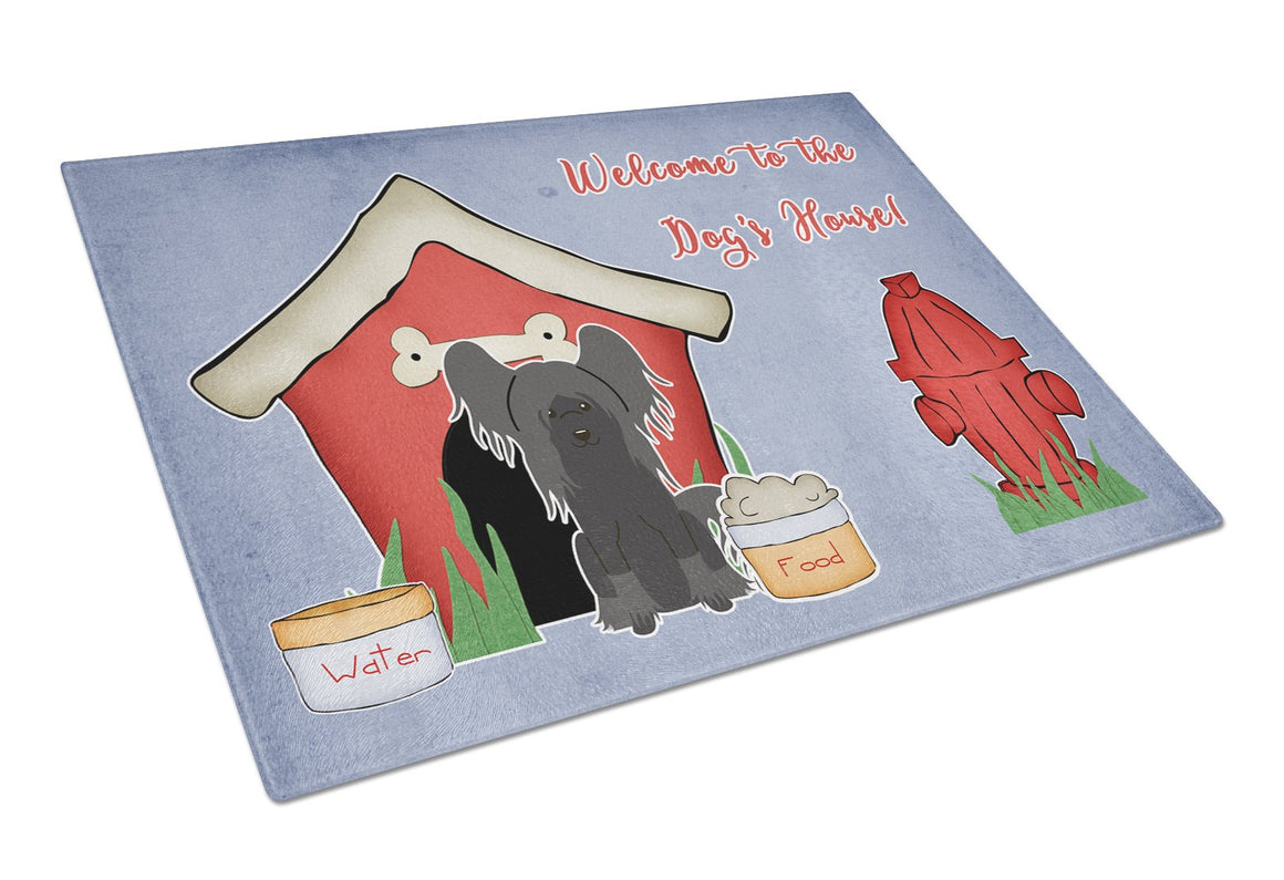 Buy this Dog House Collection Chinese Crested Black Glass Cutting Board Large BB2866LCB