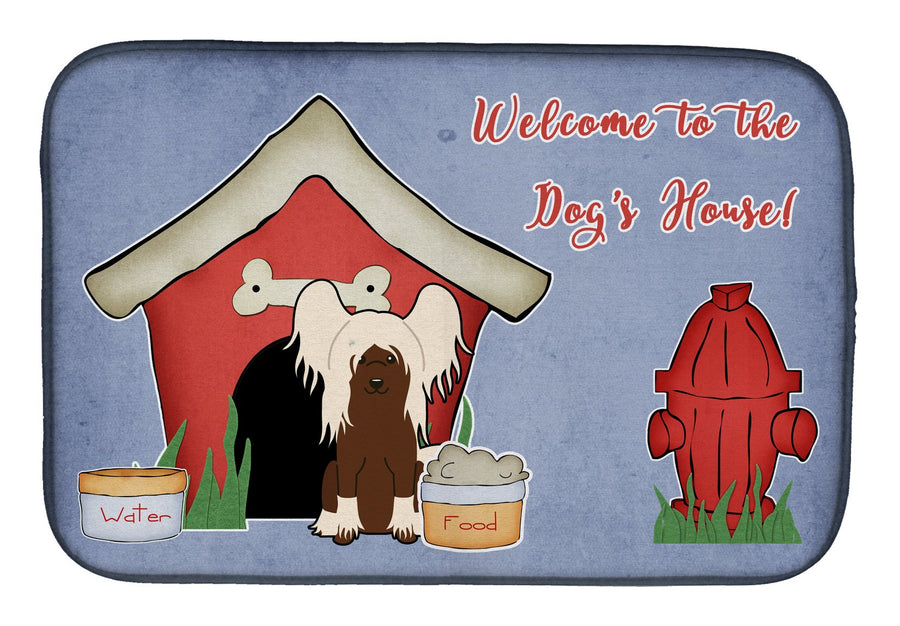 Buy this Dog House Collection Chinese Crested Cream Dish Drying Mat BB2867DDM