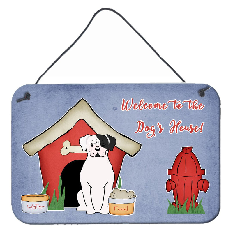 Buy this Dog House Collection White Boxer Cooper Wall or Door Hanging Prints BB2868DS812