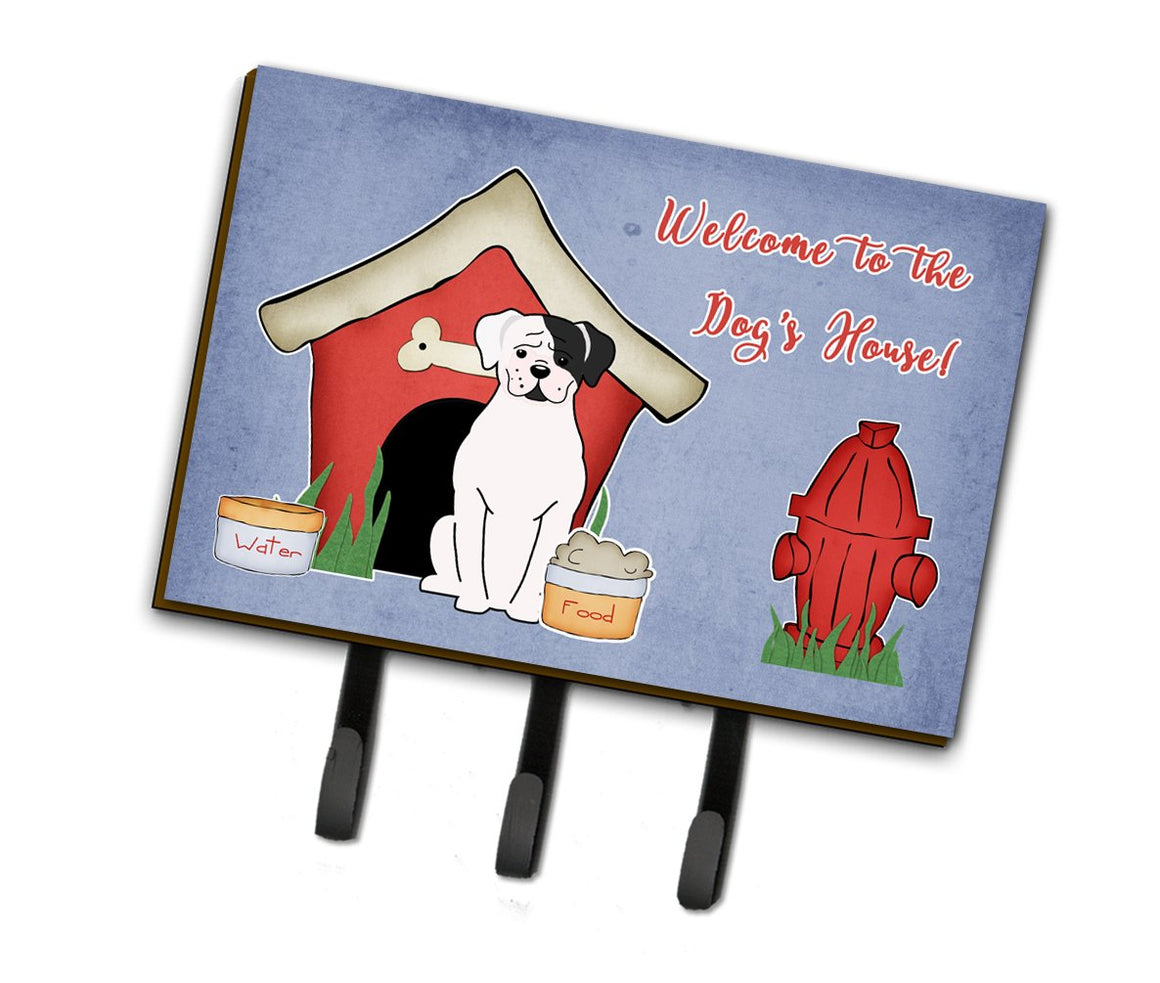Buy this Dog House Collection White Boxer Cooper Leash or Key Holder