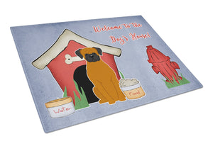 Buy this Dog House Collection Fawn Boxer Glass Cutting Board Large BB2869LCB