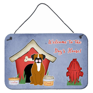 Buy this Dog House Collection Flashy Fawn Boxer Wall or Door Hanging Prints