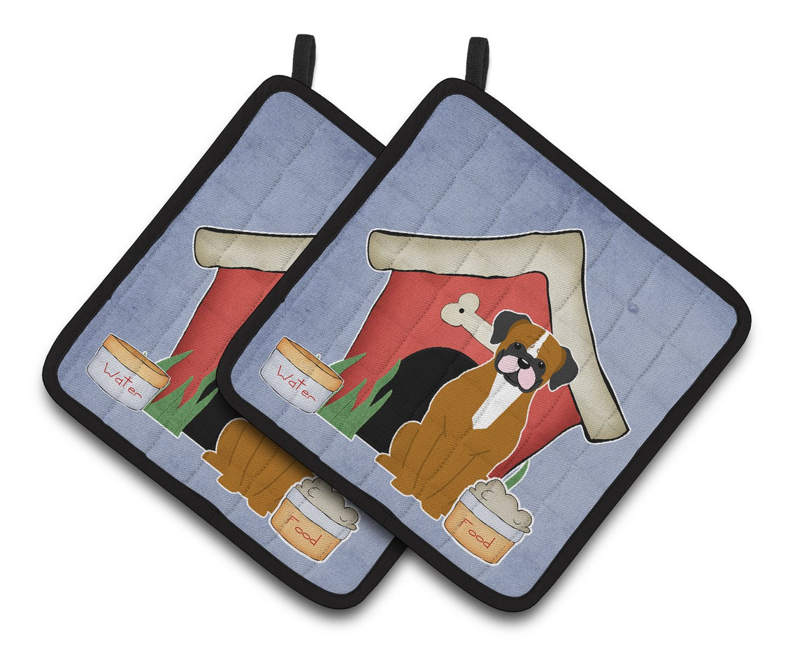 Buy this Dog House Collection Flashy Fawn Boxer Pair of Pot Holders