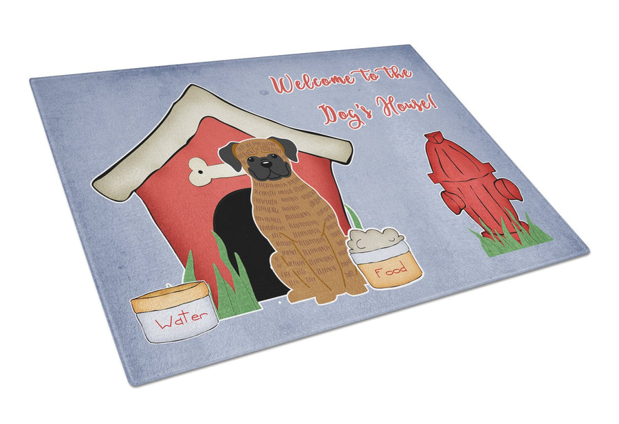 Buy this Dog House Collection Brindle Boxer Glass Cutting Board Large BB2871LCB