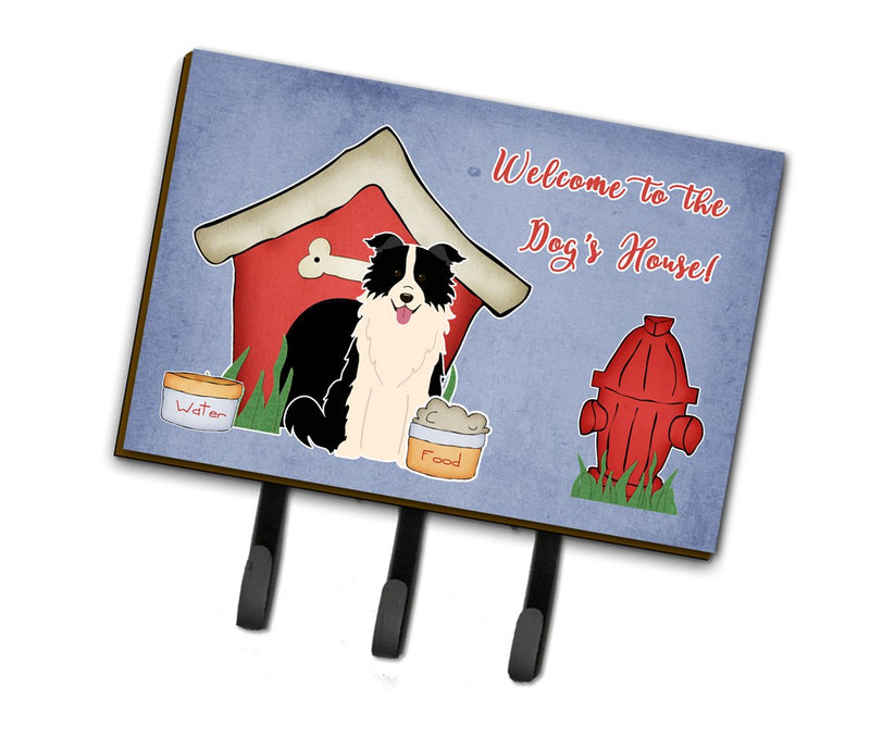 Buy this Dog House Collection Border Collie Black White Leash or Key Holder