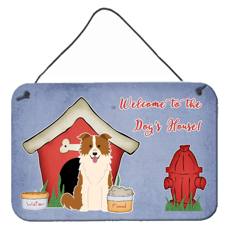 Buy this Dog House Collection Border Collie Red White Wall or Door Hanging Prints