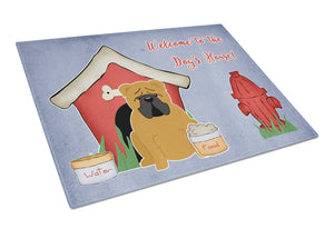Buy this Dog House Collection English Bulldog Red Glass Cutting Board Large BB2876LCB