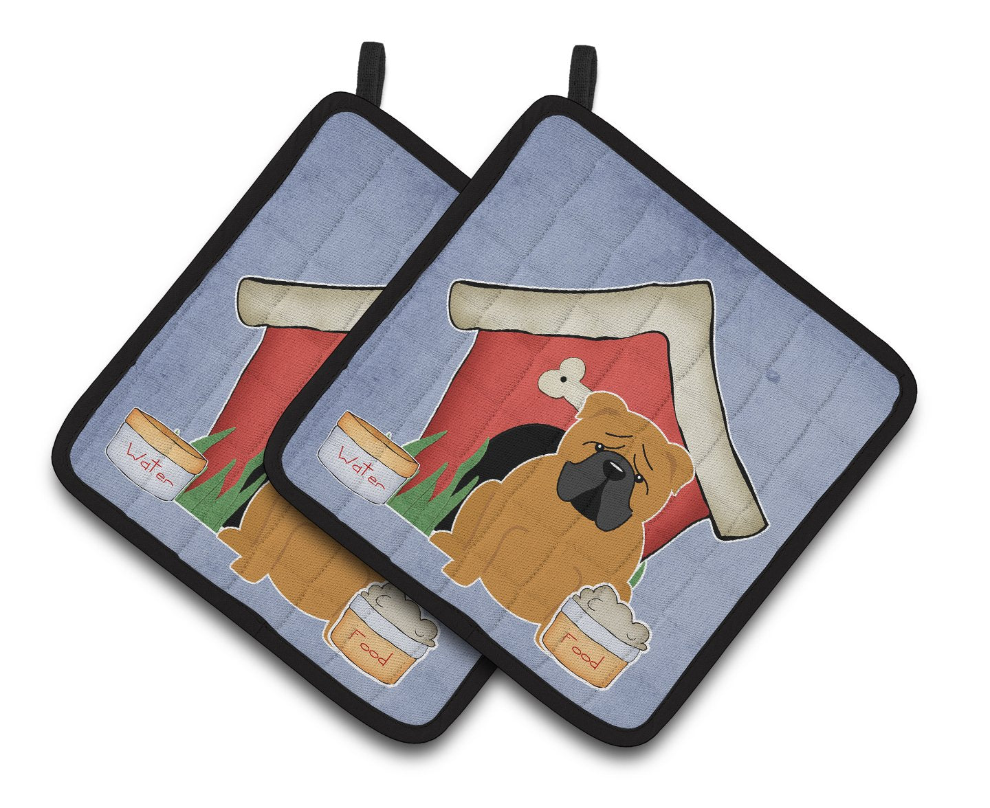Dog House Collection English Bulldog Red Pair of Pot Holders BB2876PTHD by Caroline's Treasures