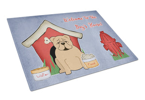 Buy this Dog House Collection English Bulldog Fawn Glass Cutting Board Large BB2878LCB