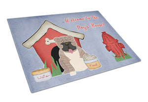 Buy this Dog House Collection English Bulldog Grey Brindle  Glass Cutting Board Large BB2880LCB
