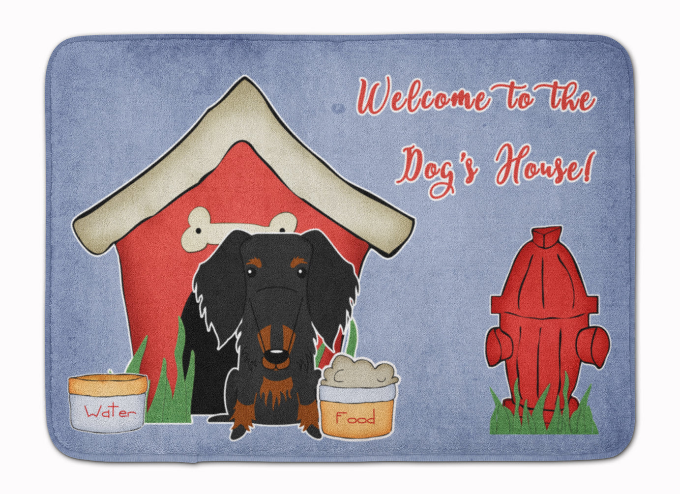 Dog House Collection Wire Haired Dachshund Black Tan Machine Washable Memory Foam Mat BB2881RUG by Caroline's Treasures