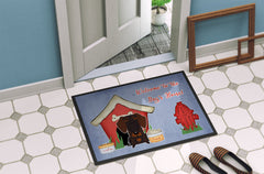 Dog House Collection Wire Haired Dachshund Chocolate Indoor or Outdoor Mat 24x36 BB2883JMAT