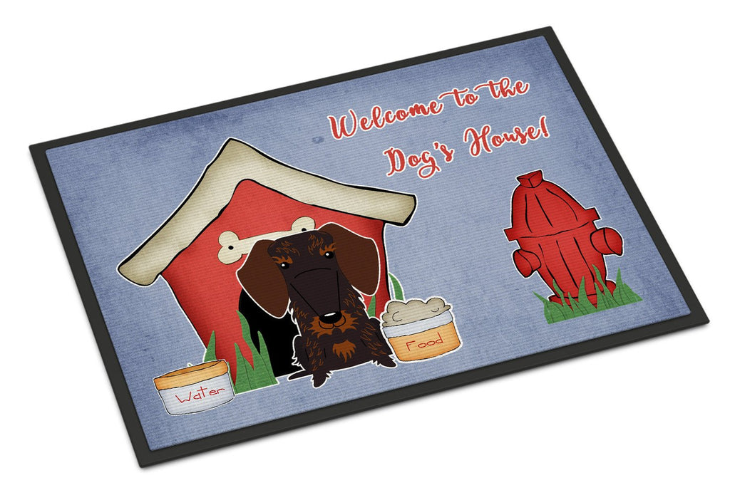 Buy this Dog House Collection Wire Haired Dachshund Chocolate Indoor or Outdoor Mat 24x36 BB2883JMAT