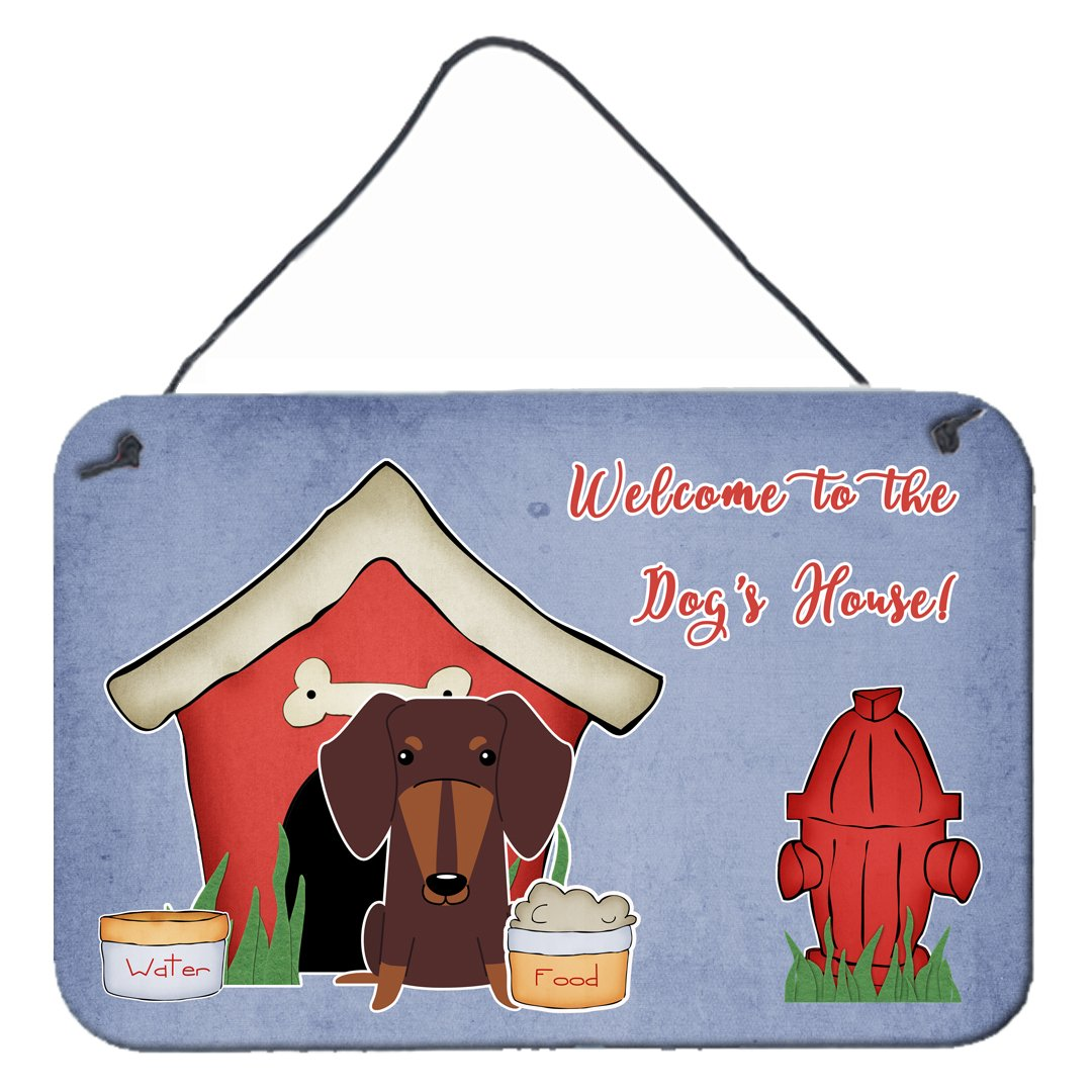 Dog House Collection Dachshund Chocolate Wall or Door Hanging Prints by Caroline's Treasures