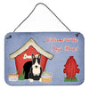 Buy this Dog House Collection Bull Terrier Black White Wall or Door Hanging Prints
