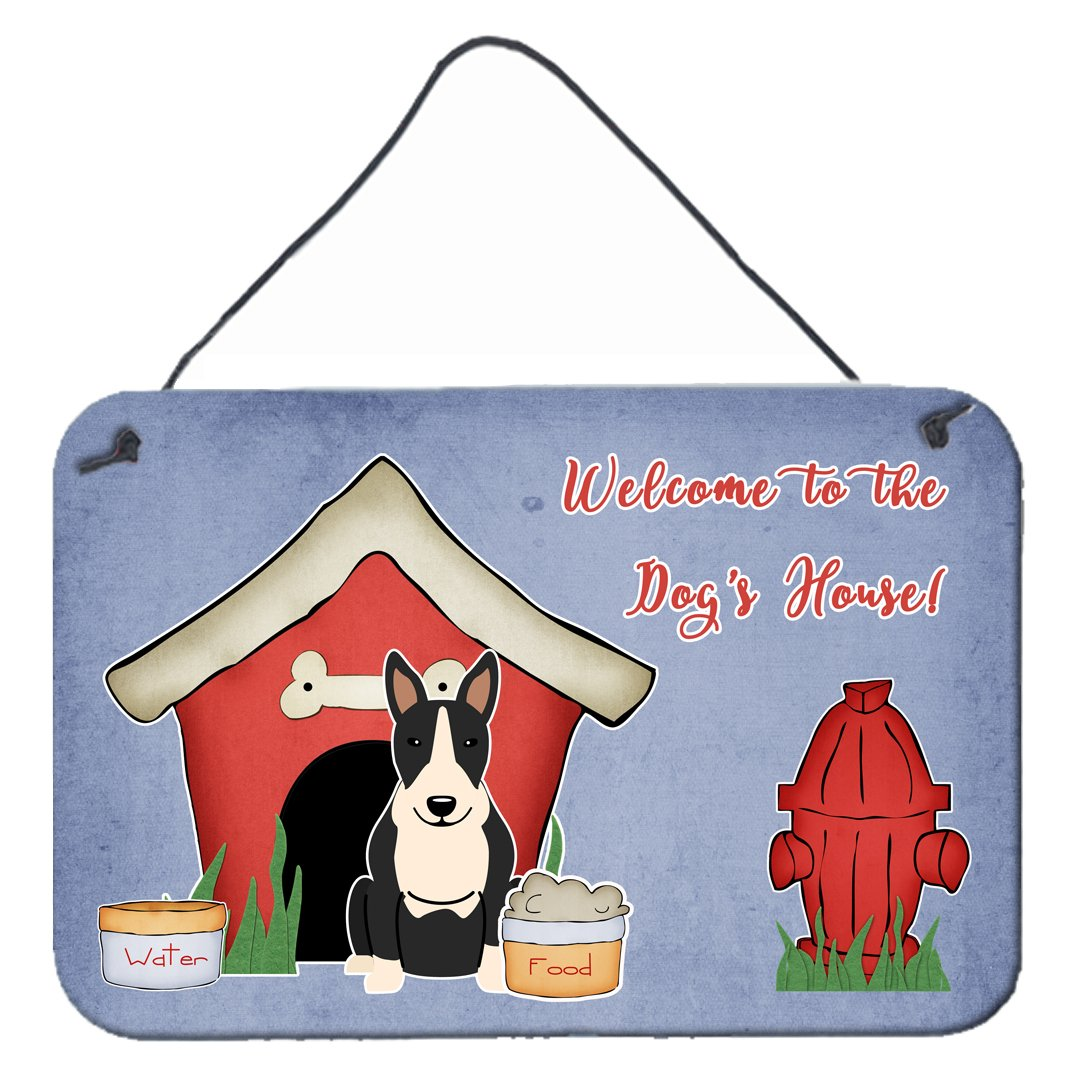 Dog House Collection Bull Terrier Black White Wall or Door Hanging Prints by Caroline's Treasures