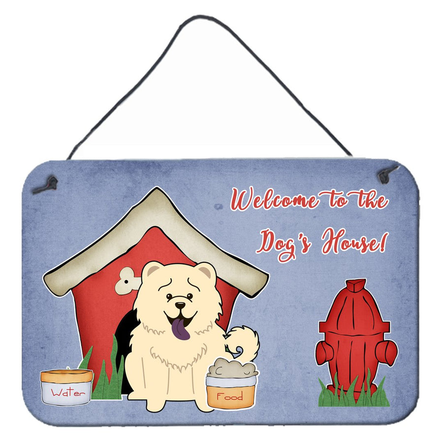 Buy this Dog House Collection Chow Chow White Wall or Door Hanging Prints