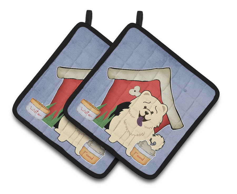 Buy this Dog House Collection Chow Chow White Pair of Pot Holders