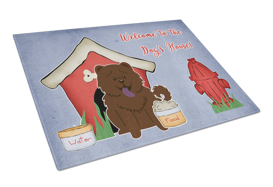 Buy this Dog House CollectionChow Chow Chocolate Glass Cutting Board Large BB2895LCB