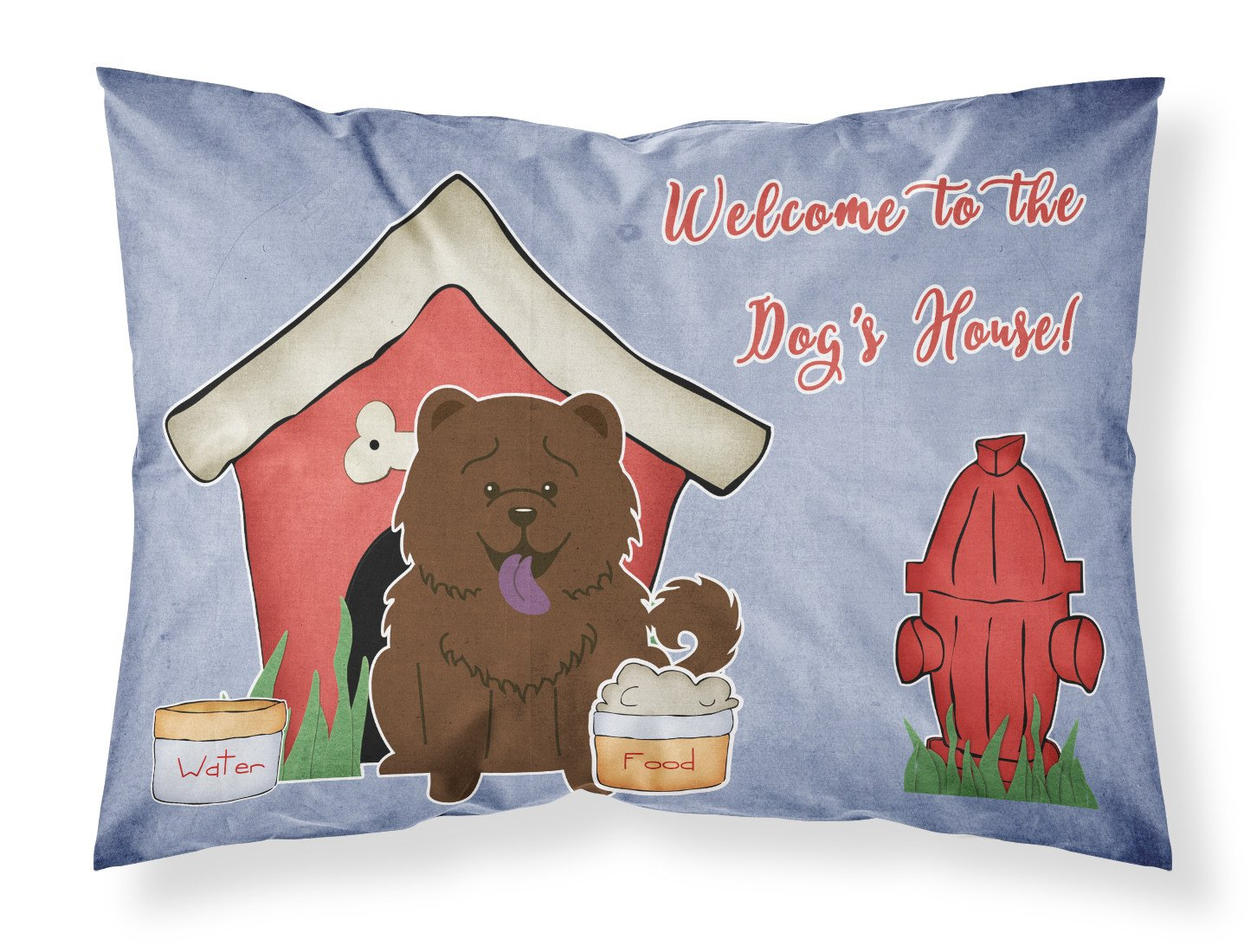 Dog House CollectionChow Chow Chocolate Fabric Standard Pillowcase BB2895PILLOWCASE by Caroline's Treasures