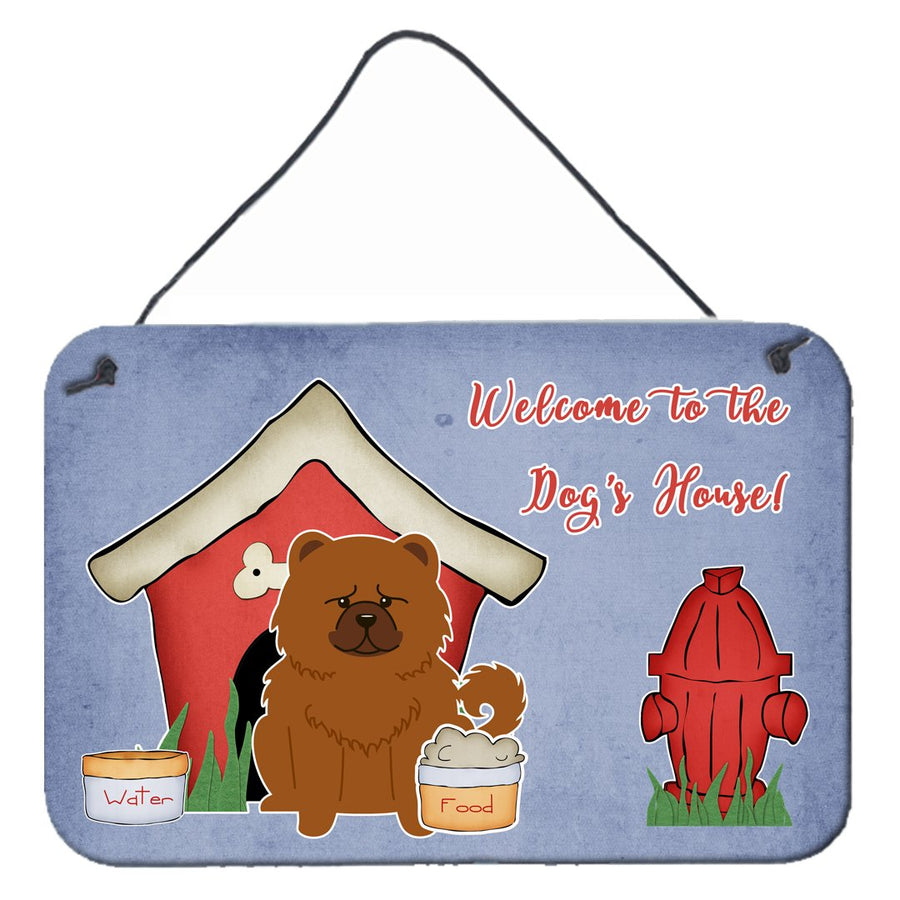 Buy this Dog House Collection Chow Chow Red Wall or Door Hanging Prints