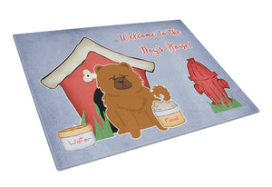 Buy this Dog House Collection Chow Chow Red Glass Cutting Board Large BB2896LCB