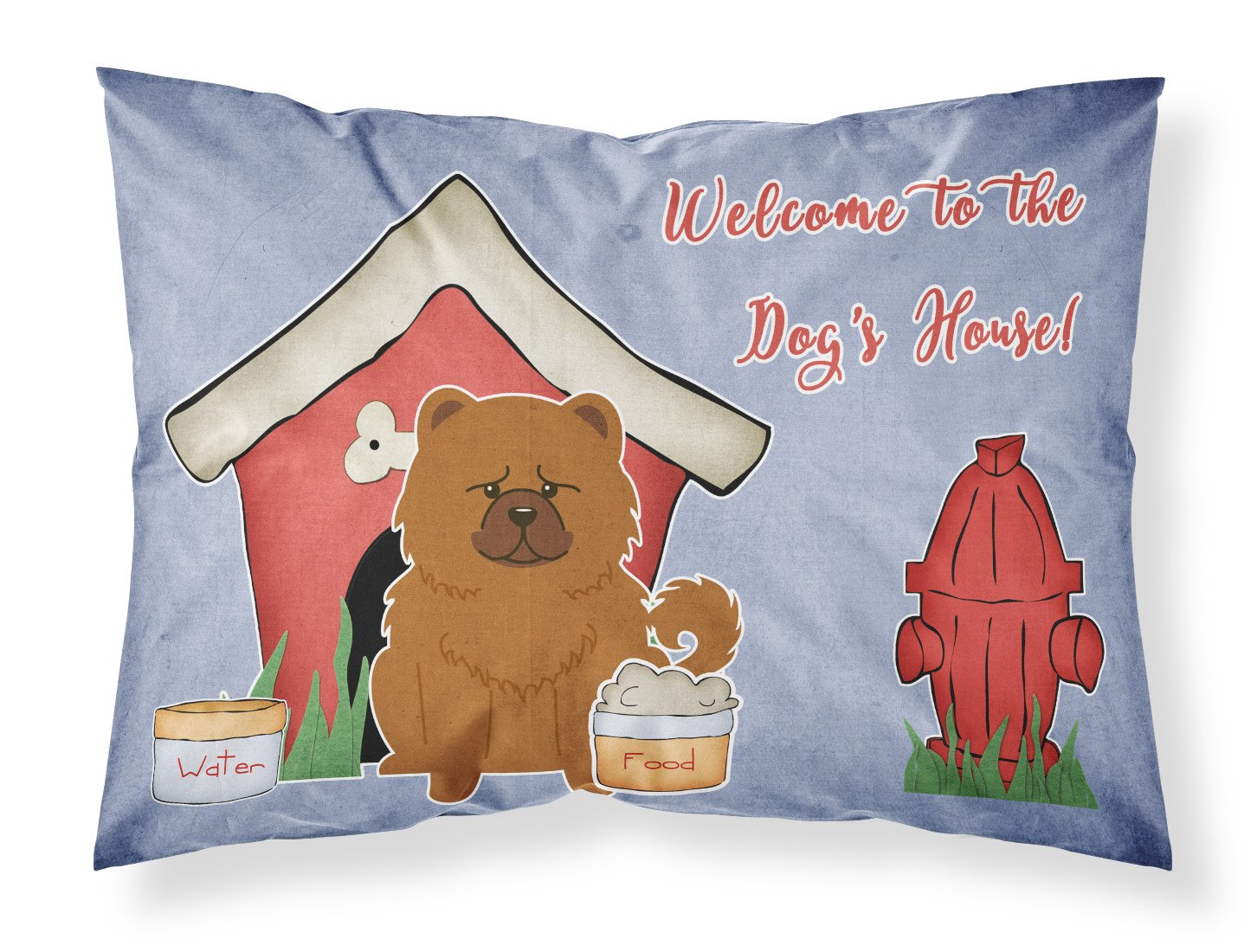 Dog House Collection Chow Chow Red Fabric Standard Pillowcase BB2896PILLOWCASE by Caroline's Treasures