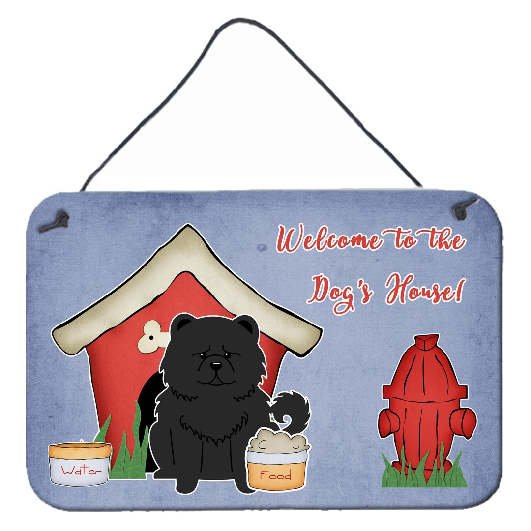 Dog House Collection Chow Chow Black Wall or Door Hanging Prints BB2897DS812 by Caroline's Treasures