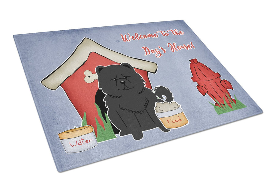 Buy this Dog House Collection Chow Chow Black Glass Cutting Board Large BB2897LCB