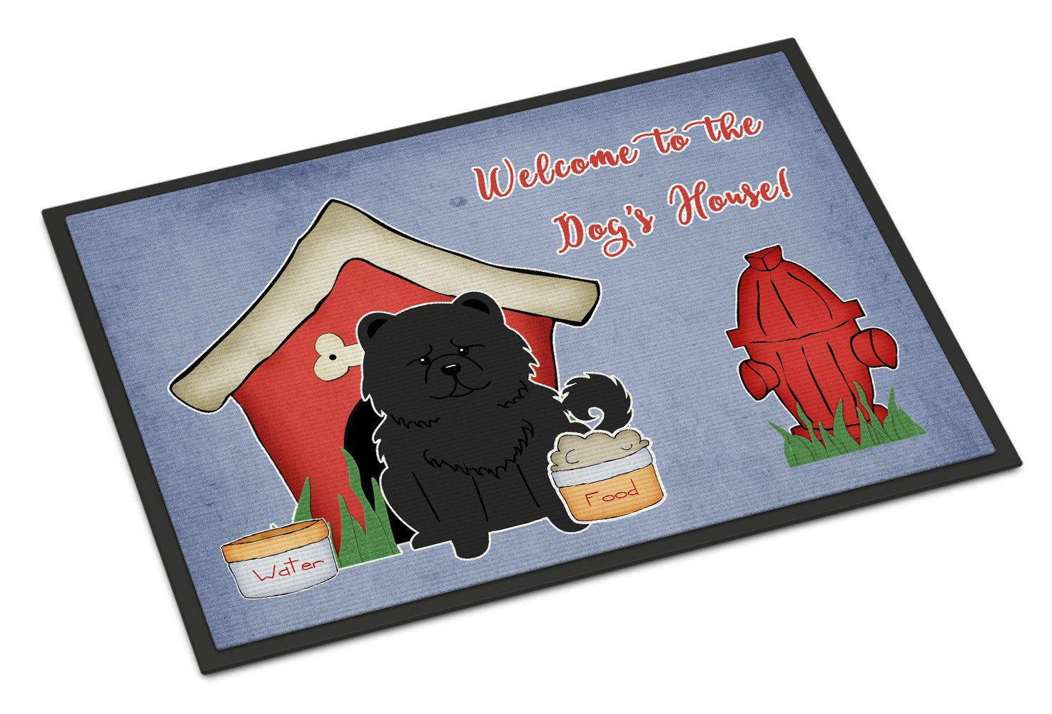 Dog House Collection Chow Chow Black Indoor or Outdoor Mat 18x27 BB2897MAT by Caroline's Treasures