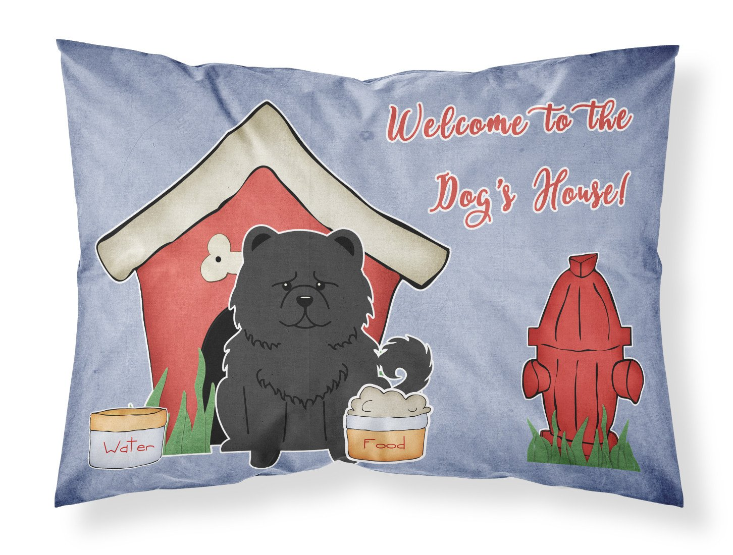 Dog House Collection Chow Chow Black Fabric Standard Pillowcase BB2897PILLOWCASE by Caroline's Treasures