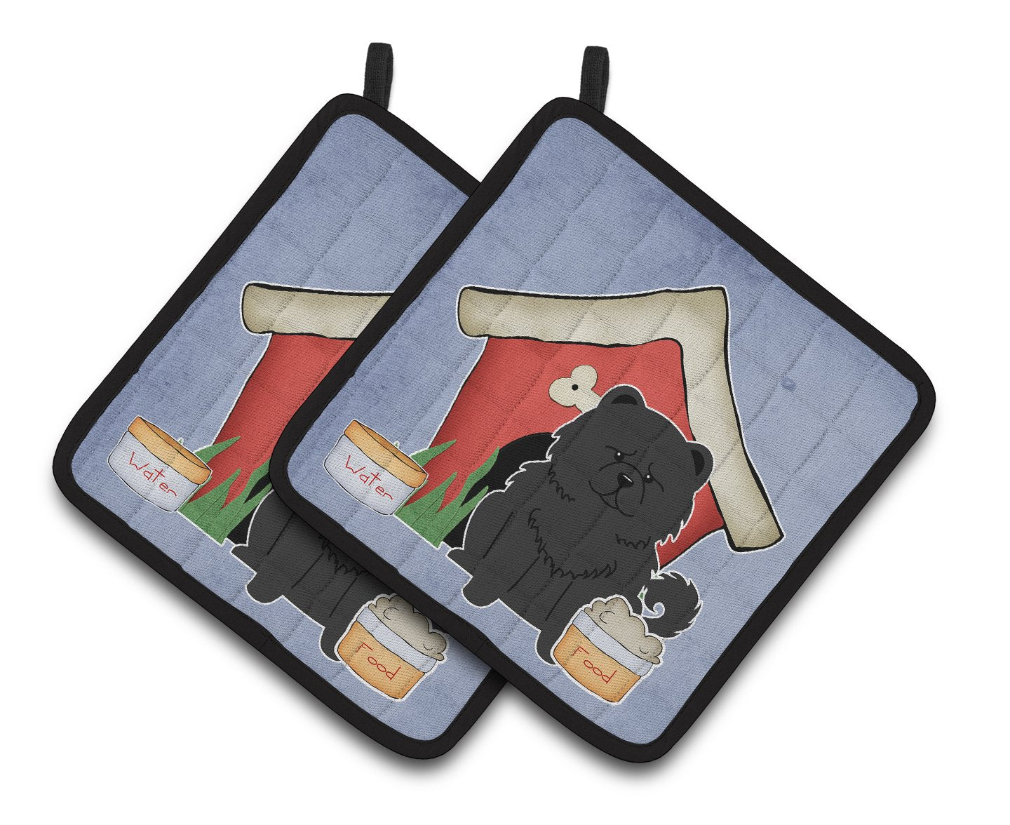 Dog House Collection Chow Chow Black Pair of Pot Holders by Caroline's Treasures