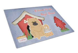 Buy this Dog House Collection Chow Chow Cream Glass Cutting Board Large BB2898LCB
