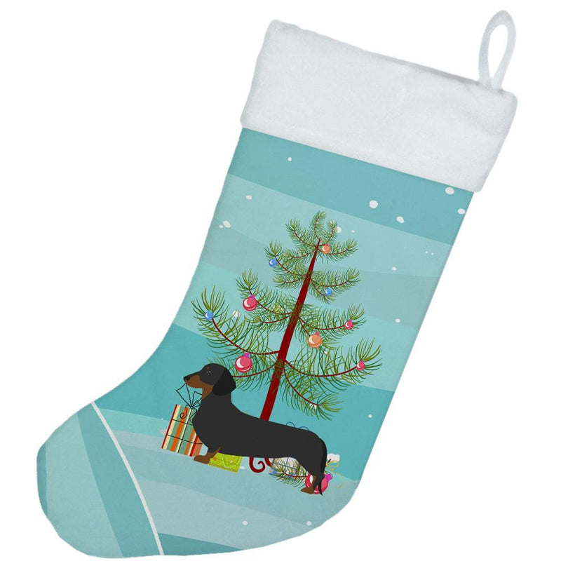 Dachshund Merry Christmas Tree Christmas Stocking BB2900CS by Caroline's Treasures