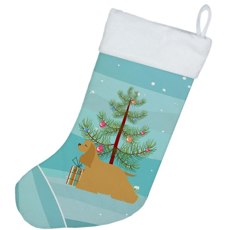 Cocker Spaniel Merry Christmas Tree Christmas Stocking BB2904CS by Caroline's Treasures