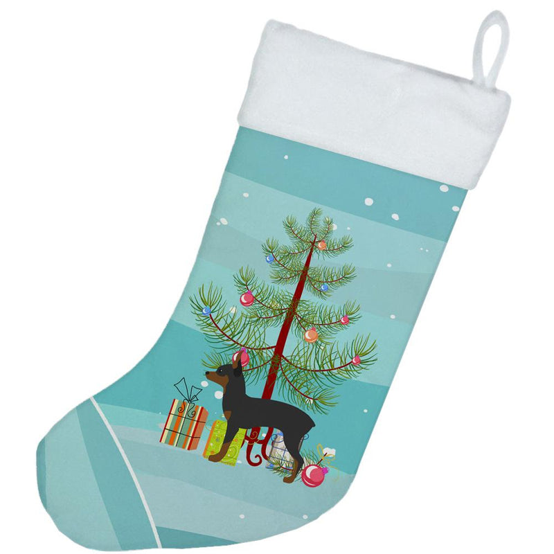Toy Fox Terrier Merry Christmas Tree Christmas Stocking BB2905CS by Caroline's Treasures