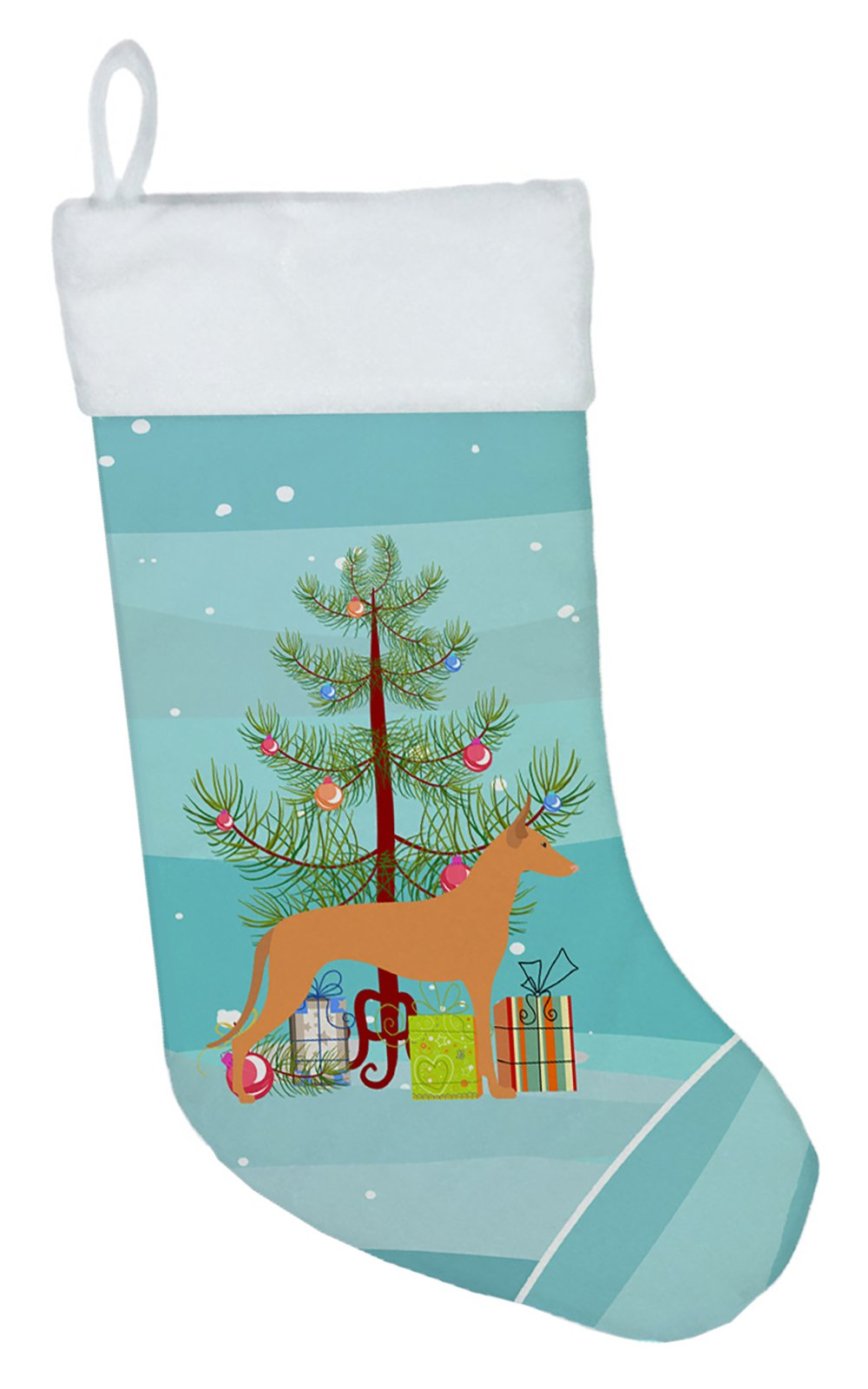 Pharaoh Hound Merry Christmas Tree Christmas Stocking BB2906CS by Caroline's Treasures