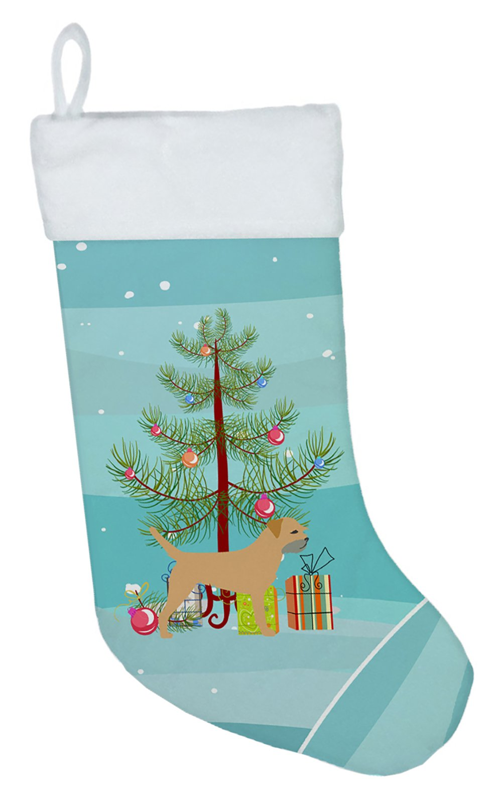 Border Terrier Merry Christmas Tree Christmas Stocking BB2907CS by Caroline's Treasures