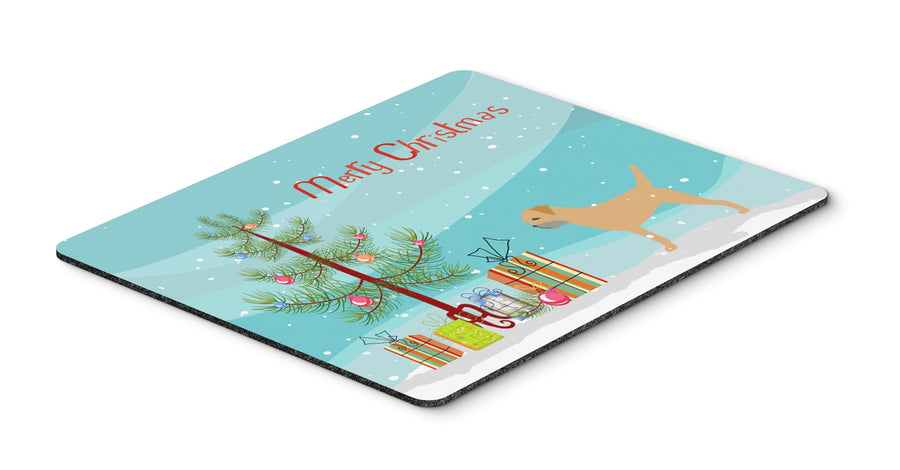 "Buy this ""Border Terrier Merry Christmas Tree Mouse Pad, Hot Pad or Trivet"""