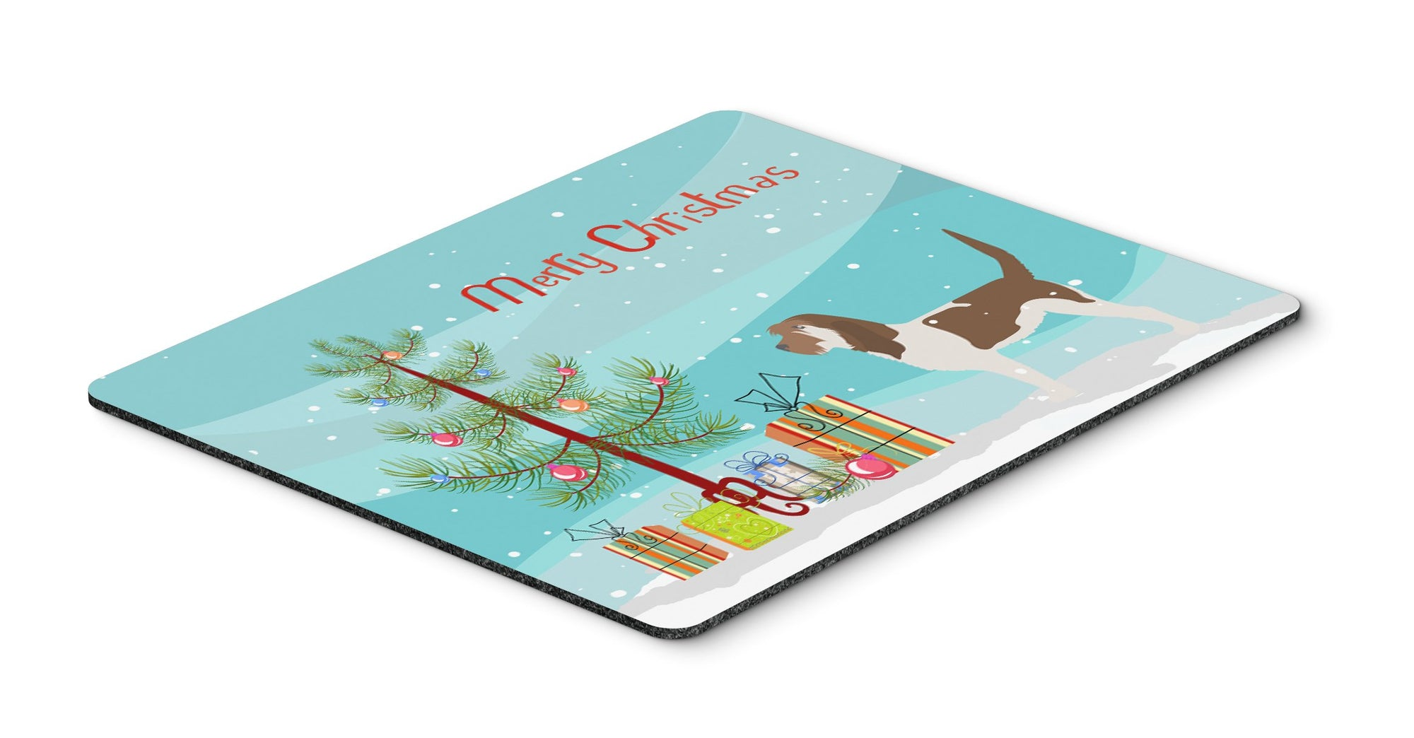 Grand Basset Griffon Vendeen Merry Christmas Tree Mouse Pad, Hot Pad or Trivet by Caroline's Treasures