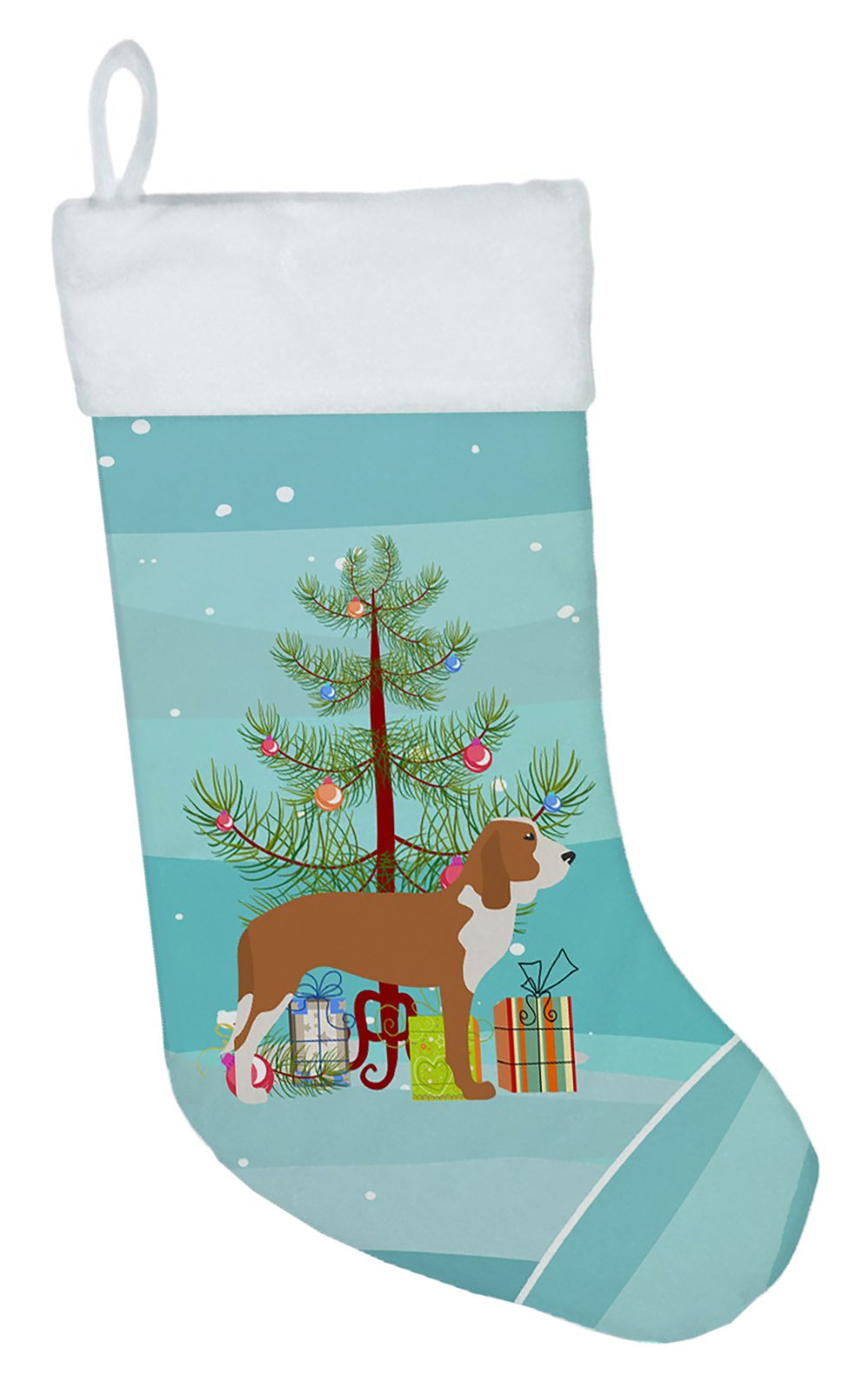 Spanish Hound Merry Christmas Tree Christmas Stocking BB2909CS by Caroline's Treasures