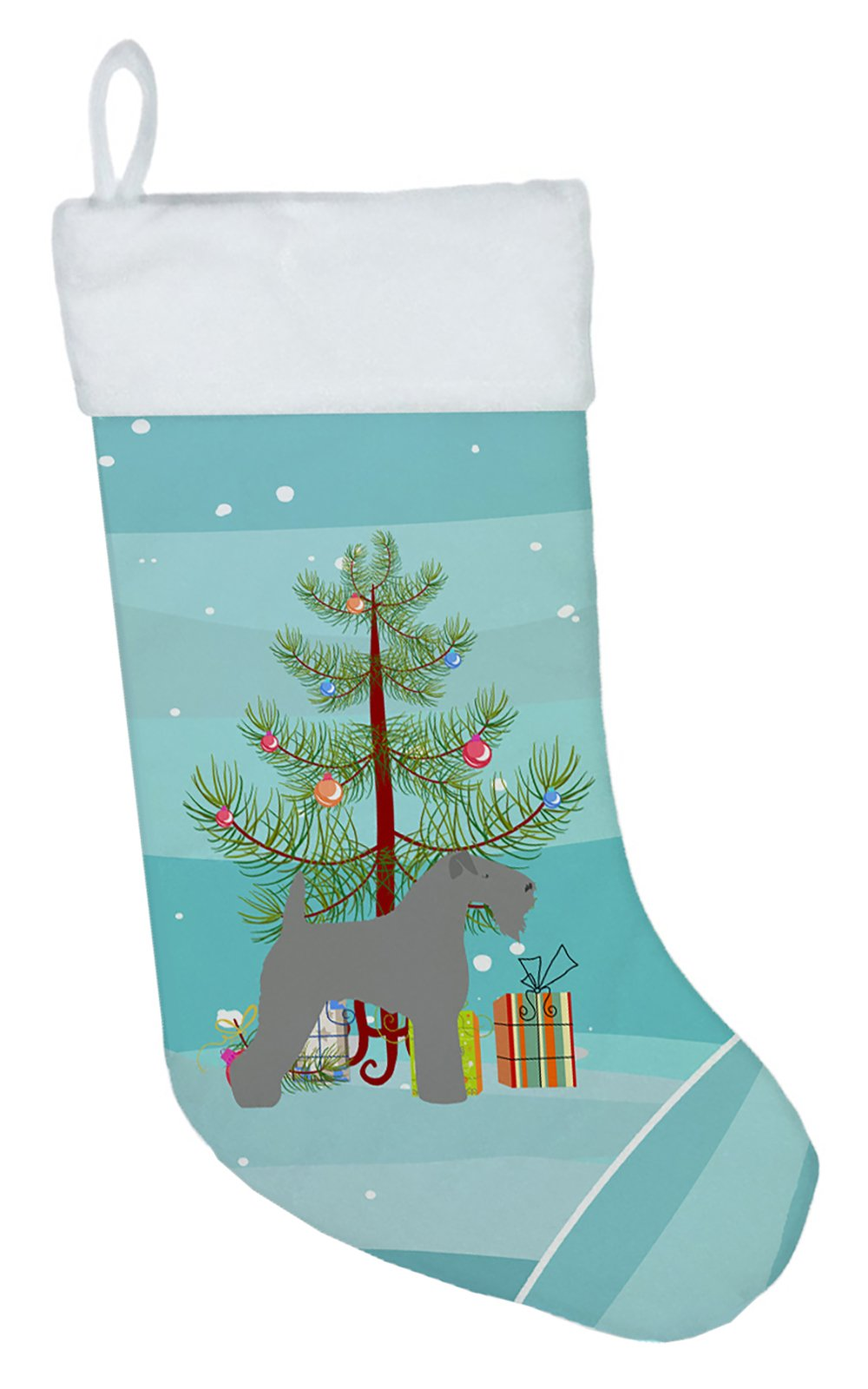 Kerry Blue Terrier Merry Christmas Tree Christmas Stocking BB2910CS by Caroline's Treasures