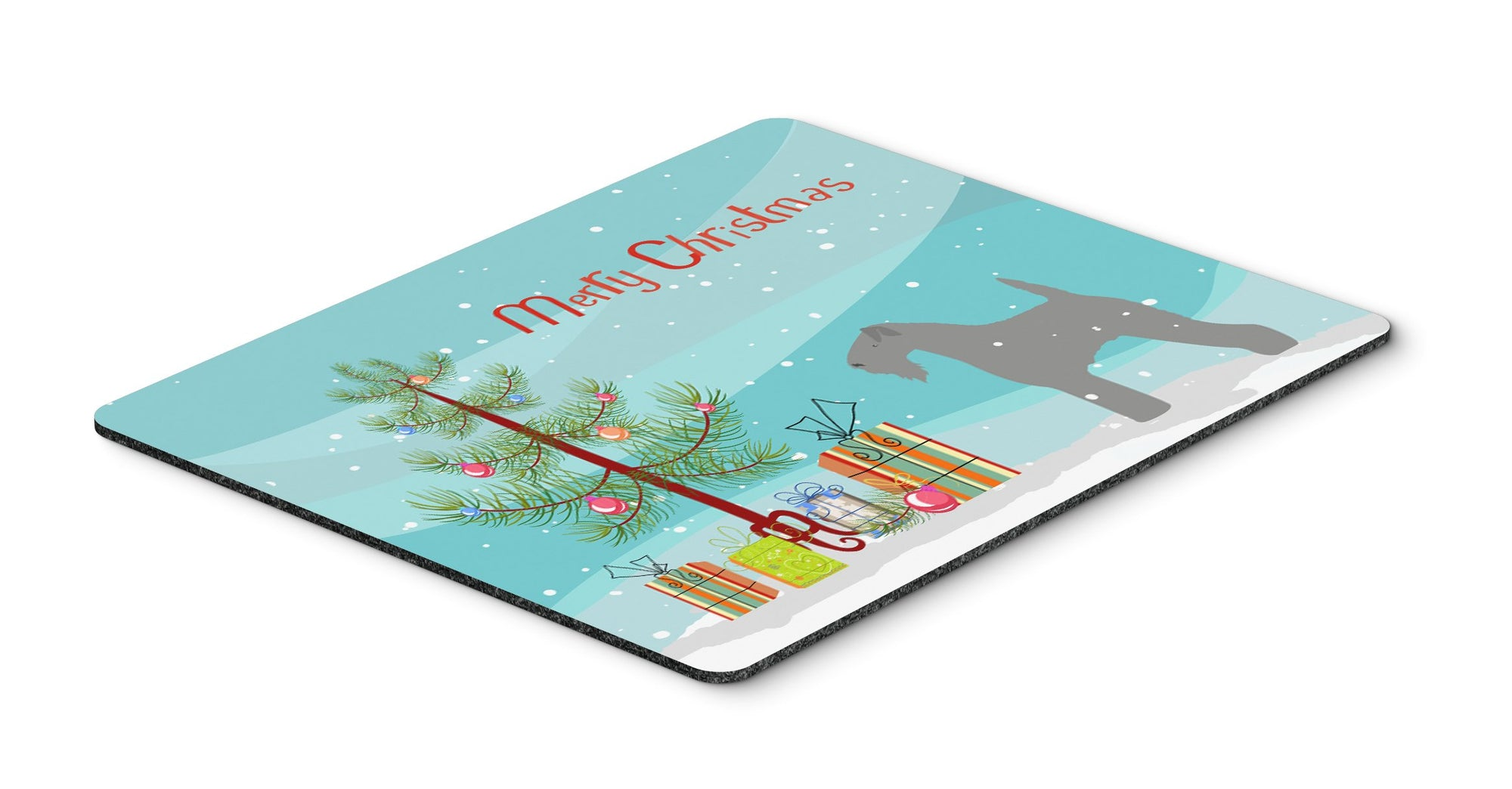 Kerry Blue Terrier Merry Christmas Tree Mouse Pad, Hot Pad or Trivet by Caroline's Treasures