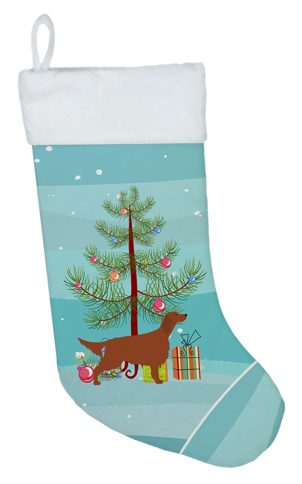 Irish Setter Merry Christmas Tree Christmas Stocking BB2911CS by Caroline's Treasures