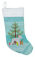 Bedlington Terrier Merry Christmas Tree Christmas Stocking BB2912CS by Caroline's Treasures