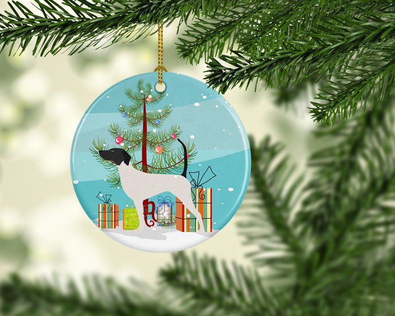 Buy this English Pointer Merry Christmas Tree Ceramic Ornament BB2913CO1