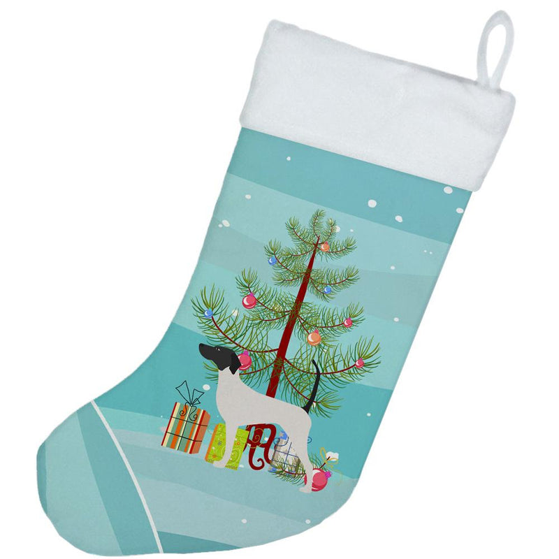 English Pointer Merry Christmas Tree Christmas Stocking BB2913CS by Caroline's Treasures