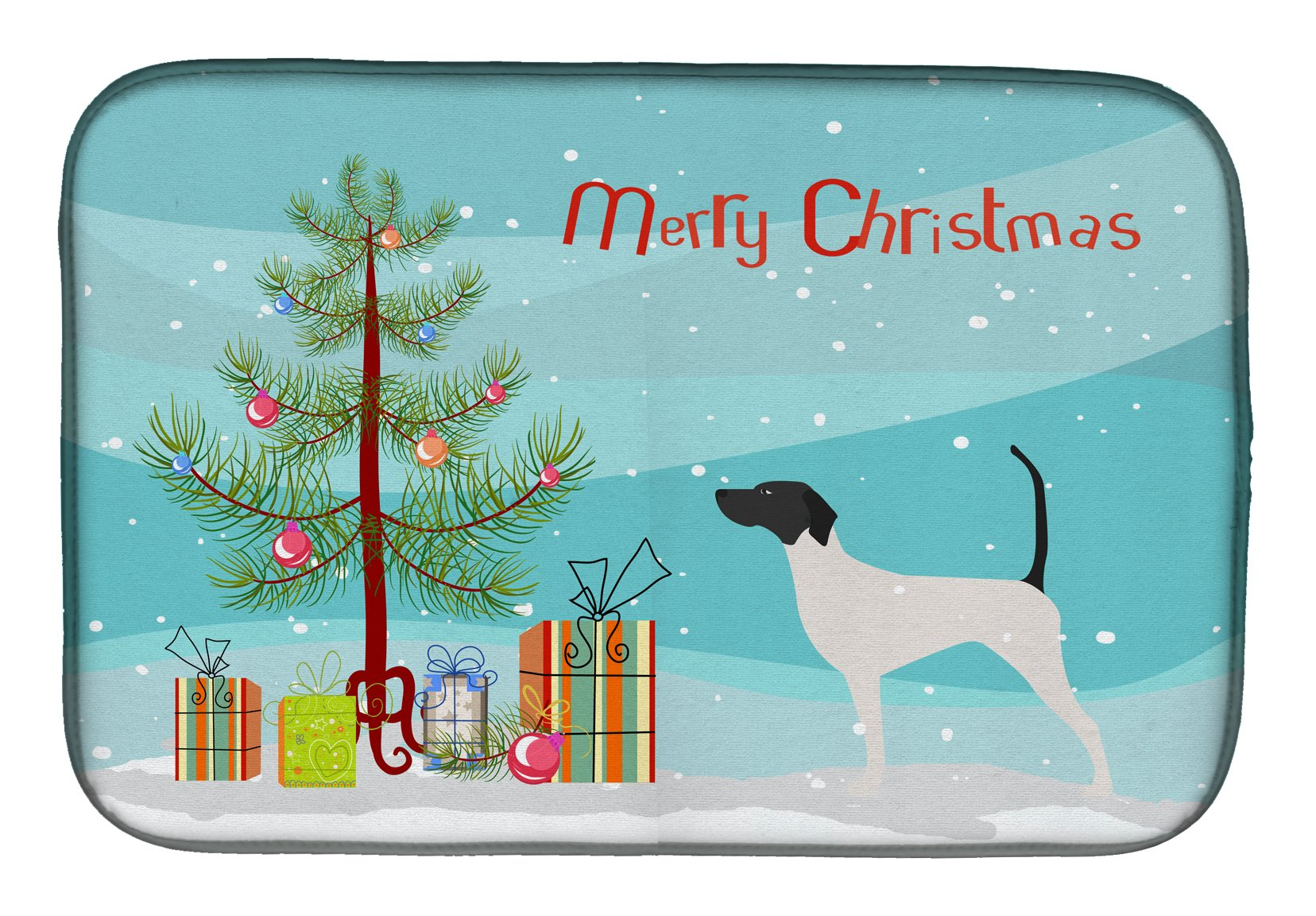English Pointer Merry Christmas Tree Dish Drying Mat BB2913DDM by Caroline's Treasures