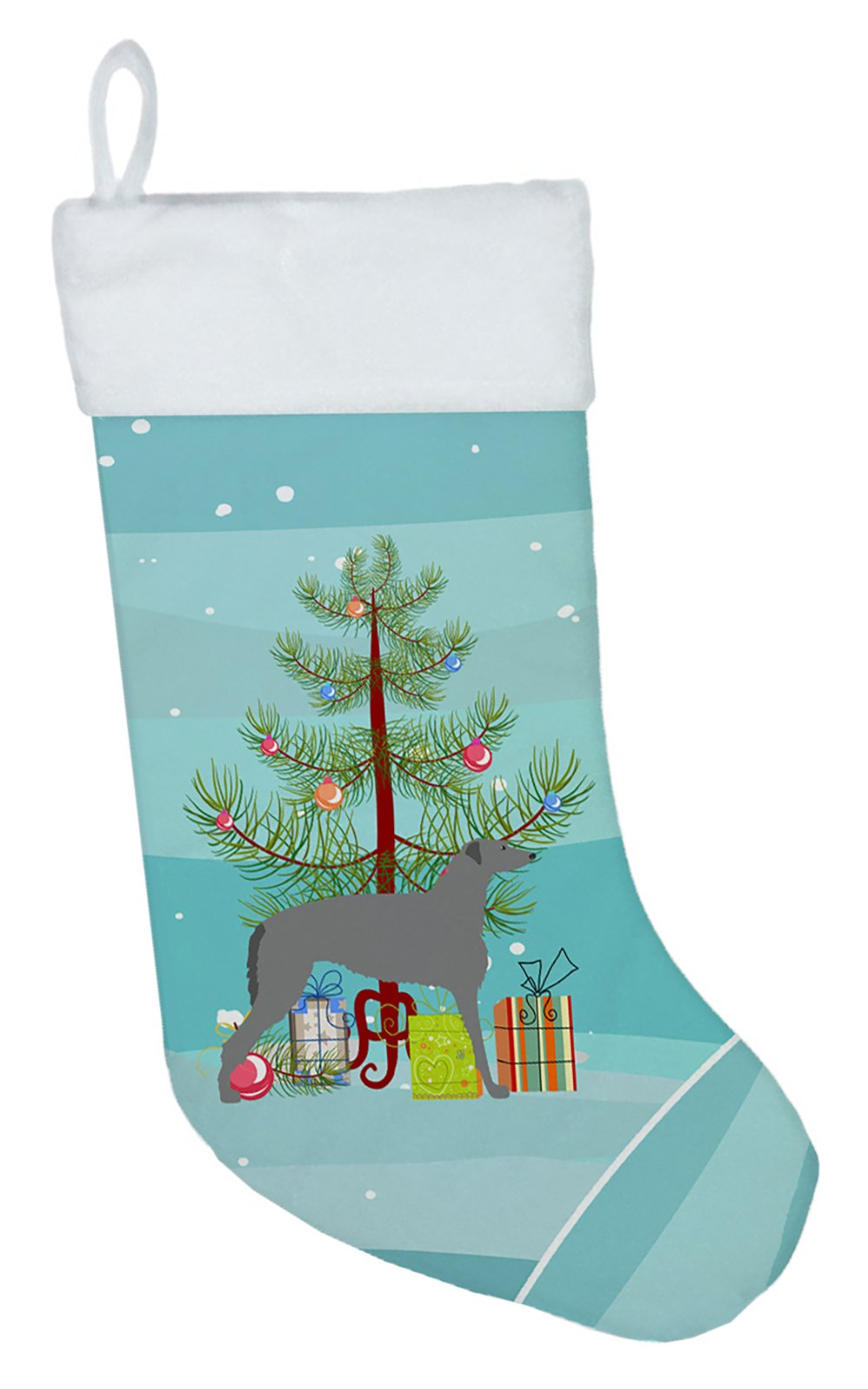 Scottish Deerhound Merry Christmas Tree Christmas Stocking BB2914CS by Caroline's Treasures