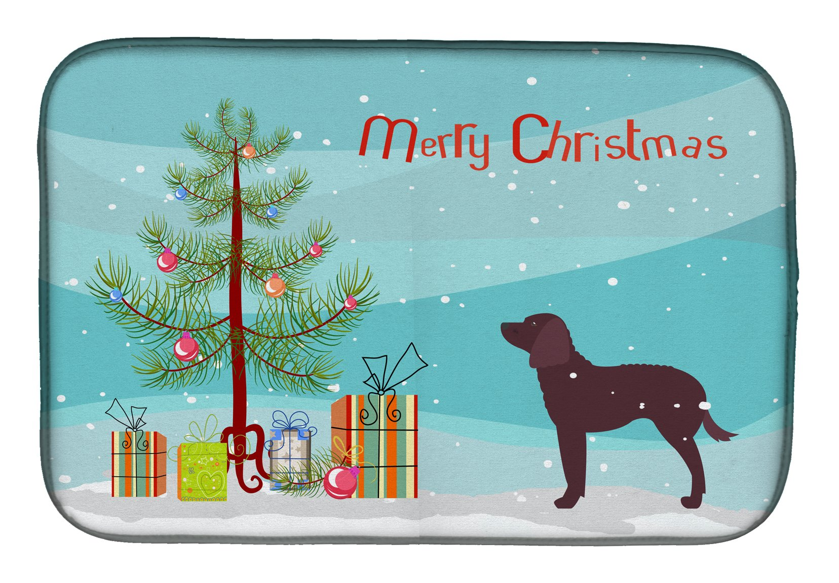 Buy this American Water Spaniel Merry Christmas Tree Dish Drying Mat BB2919DDM